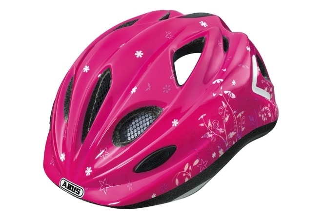 ABUS Super Chilly cykelhjelm garden pink