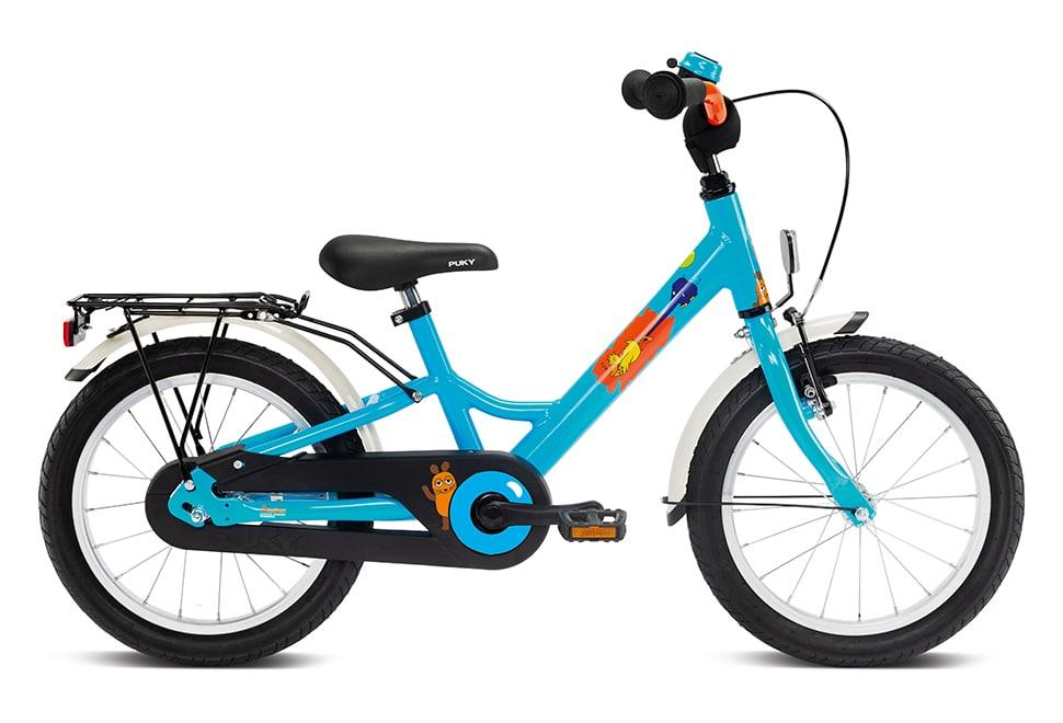 """Puky Youke 16"""" hjul drengecykel i blå"""