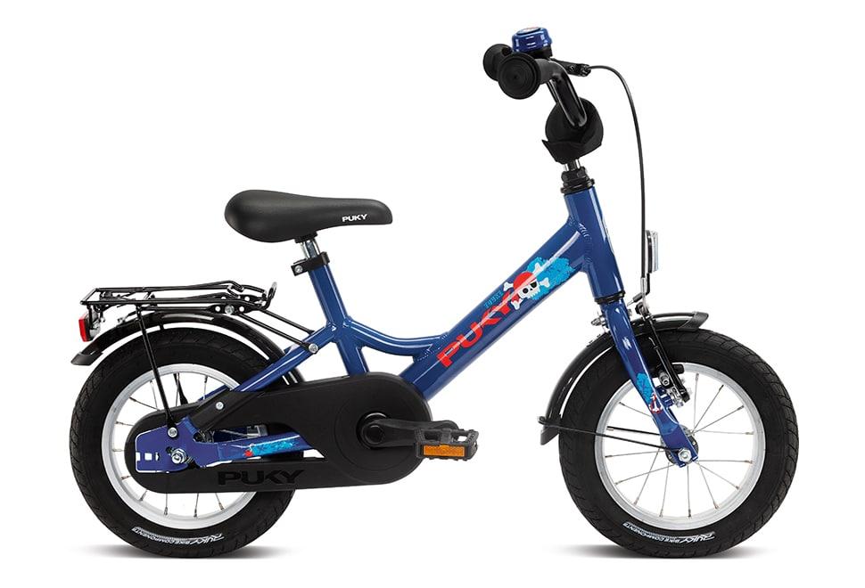 """Puky Youke 12"""" hjul drengecykel i blå"""