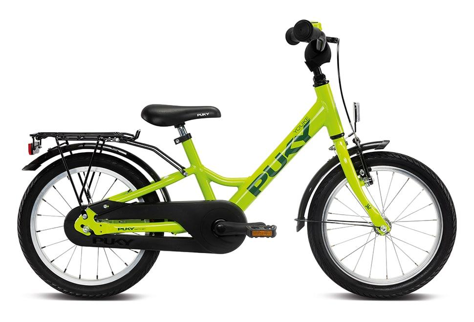 "Puky Youke 16"" hjul drengecykel i grøn"