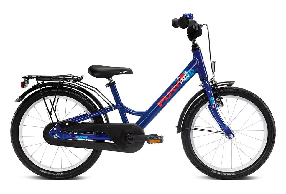 """Puky Youke 18"""" hjul drengecykel i blå"""