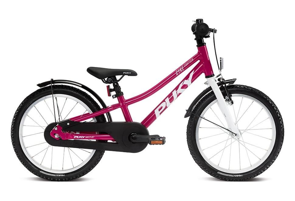 "Puky Cyke 18"" hjul pigecykel i pink"
