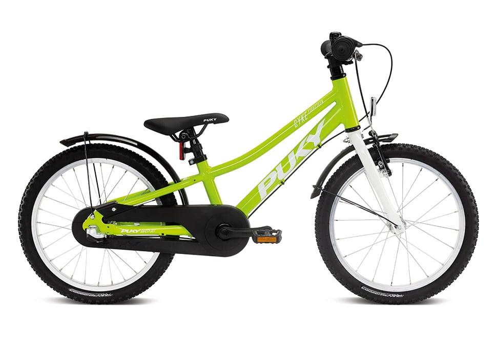 "Puky Cyke 18"" hjul drengecykel i grøn"