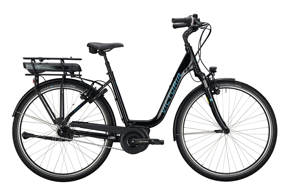 Victoria E-Trekking damecykel i sort