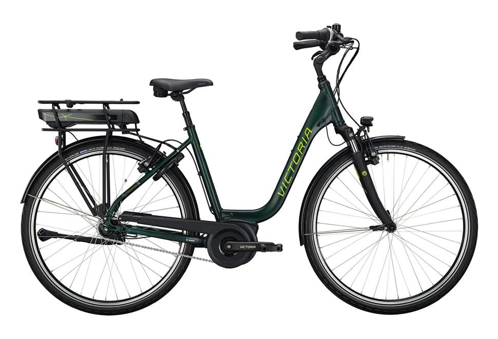 Victorie E-Trekking damecykel i grøn