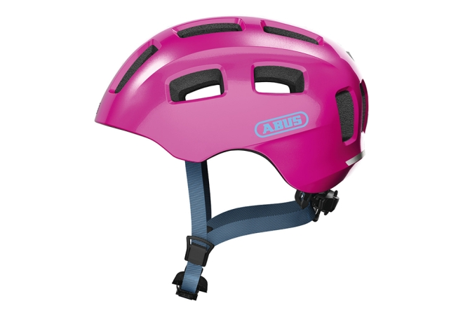 ABUS Youn-I 2.0 cykelhjelm i pink - Sparkling pink