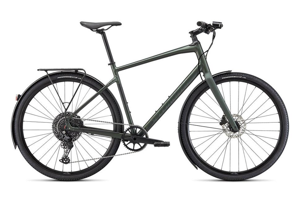 Specialized Sirrus X 4.0 EQ herrecykel i grøn - Satin Oak Green Metallic