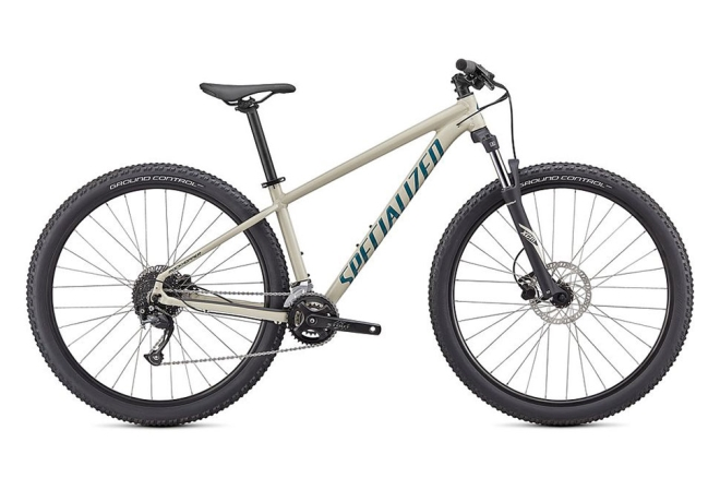 Specialized Rockhopper Sport 18 gear MTB i hvid - Gloss White Mountains / Dusty Turquoise