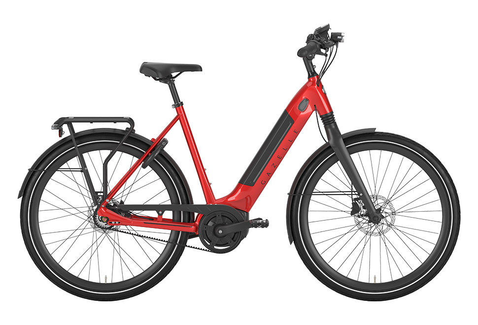 Gazelle Ultimate C8+ HMB 8 gear damecykel i rød / Champion Red